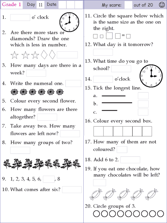 Worksheets For 11th Graders : Math worksheets th grade printable