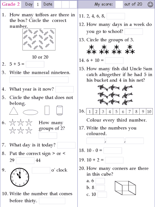 Math A Day Grade 2 - Lessons - Tes Teach